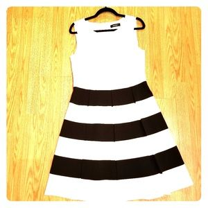 A Line Black&White Dress
